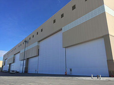 Closed Hangar Doors